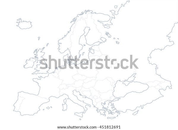 Political Map Europe White Background Vector Stock Vector (Royalty ...