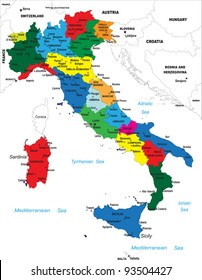 Political map of Italy