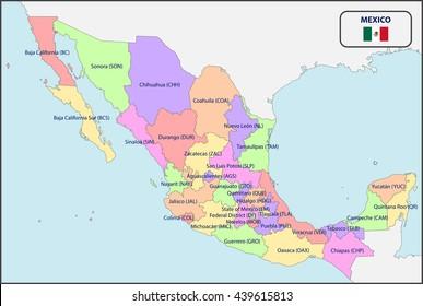 Imagenes Fotos De Stock Y Vectores Sobre Mapa Mexico Nombres