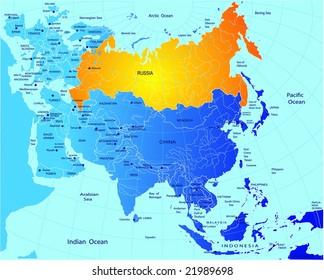 Political Map Eurasia Stock Vector (Royalty Free) 21218746 ...