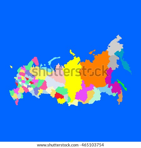 Political Map Russia Stock Vector (Royalty Free) 465103754 ...