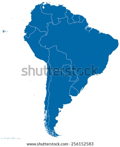 Political Map South America All Countries Stock Vector Royalty Free