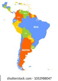 Mapa Político De Sudamérica.Vectores Imagenes Y Arte Vectorial De Stock Sobre Mapa