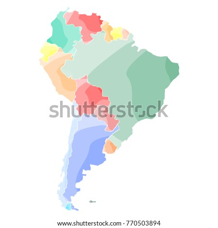 Political Map South America Vector Illustration Stock Vector ...