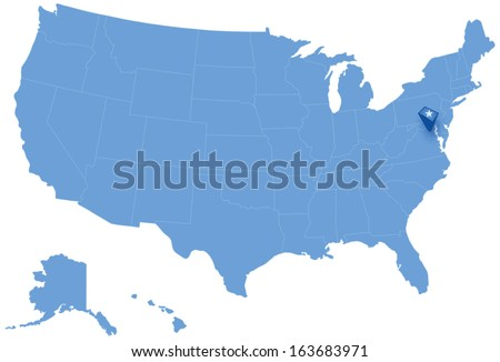 Political Map United States All States Stock Vector (Royalty ...