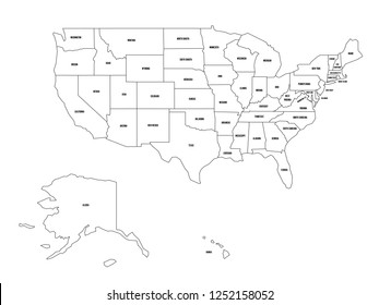 Royalty Free Us Map State Labels Images, Stock Photos & Vectors ...