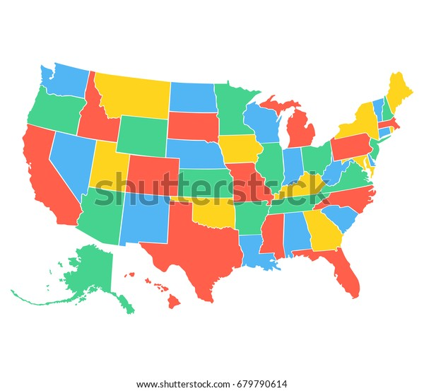 Political Map Usa United States America Stock Vector (Royalty Free on political map mexico, political map germany, political map india, political map togo, political map france, political map ireland, political map comoros, political map south africa, political map israel, political map russia, political map australia, political map japan, political map georgia, political map benin, political map brazil, political map spain, political map liechtenstein, political map slovakia, political map italy, political map el salvador,