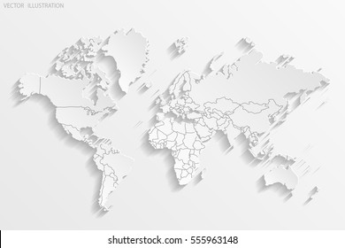 South hemisphere images stock photos vectors shutterstock political map of the world white world map countries paper vector illustration gumiabroncs Images