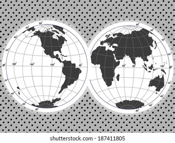 Political World Map Illustration