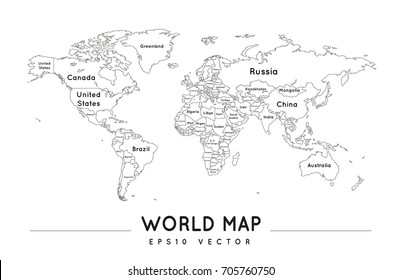Europa Map Outline Images, Stock Photos & Vectors   Shutterstock