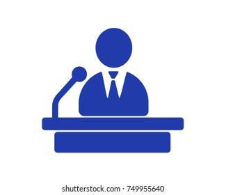 Politician, Public Speaker, Orator - High detailed isolated vector illustration