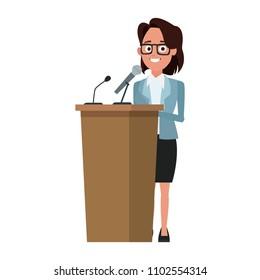 Politician speaking cartoon