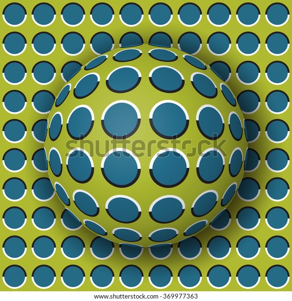 Polka dot ball rolling 3d optical illusion mural wallpaper