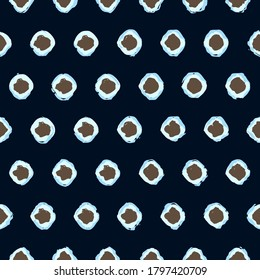 Polka dot conceptual pattern freeform blots artistic design glam fashion trendy grunge background. Abstract dotty all over print block for apparel textile, ladies dress fabric, silk scarf, accessories