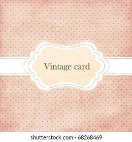 Polka dot design, vintage frame