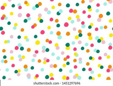polka dot graphic for fabric print