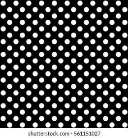 Polka dot pattern in black and white, vector design