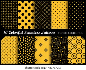 polka dot pattern with circles. Vector swatch