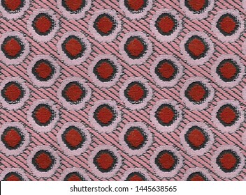Polka dot pattern of dots. Vector seamless background. Living coral abstract geometric ornament