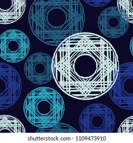 Polka dot seamless pattern. Geometric background. Scribble texture. Textile rapport.