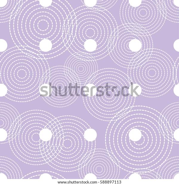 Polka dot seamless pattern. Print. Repeating background. Cloth design, wallpaper.