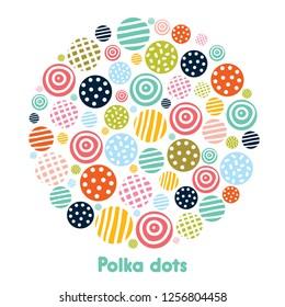 Polka dot. Vector illustration.