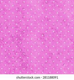 Polka dot vector seamless pattern on paper grunge