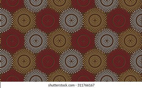 polka-dot ethnic pattern. african motive