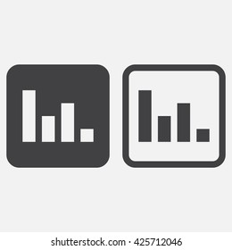 Poll line icon, graph outline and solid vector logo, linear pictogram isolated on white, pixel perfect illustration