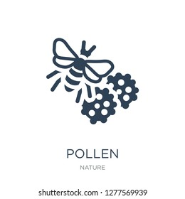 pollen icon vector on white background, pollen trendy filled icons from Nature collection, pollen vector illustration