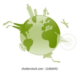 Pollution factors around the world.