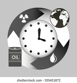 pollution infographics design, vector illustration eps10 graphic