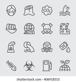 Pollution line icon