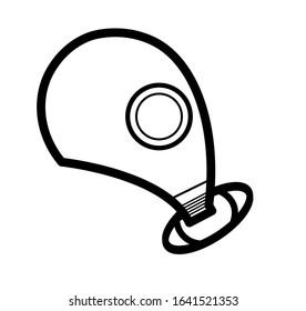 Pollution mask. From the side Respirator gas mask icon. Simple illustration of respirator gas mask bread vector icon logo for web