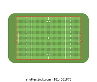Polo field. Top view. Isolated on white background