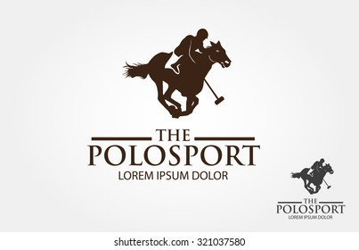 Polo horse and player sign. Vector Illustration. Branding Identity Corporate logo design template.