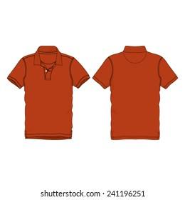 Polo neck Tee Shirt Template