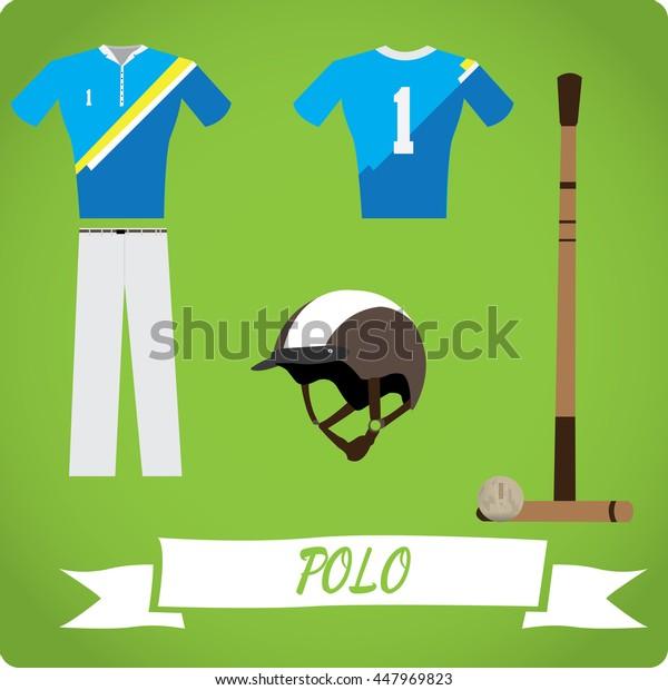 Polo objects, Sport uniform, Vector illustration