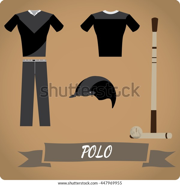 Polo objects, Sport uniform, Vector illustration