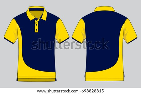 ebe00d434 ... Vector (Royalty Free) 698828815 - Shutterstock. Polo Shirt Design (Navy  Blue/Yellow)
