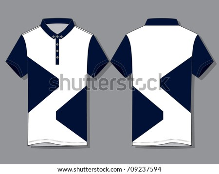 08a10958f Royalty-free stock vector images ID: 709237594. Polo shirt design vector  (White/Navy) - Vector