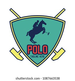 polo sport logo with text space for your slogan / tag line, vector illustration