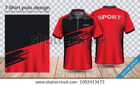 6b3a58710 Polo Tshirt Design Zipper Soccer Jersey Stock Vector (Royalty Free ...
