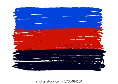 Polyamore flag isolated on a white background.Polyamory. Polyamorous.Sexual minorities Vector illustration