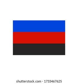 Polyamory flag isolated on a white background.Polyamorous.Sexual minorities Vector illustration. Polyamorous pride flag