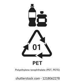 Polyethylene terephthalate icon. Simple illustration of polyethylene terephthalate vector icon for web design isolated on white background