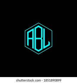 polygon ABL letter icon design on the BLACK background. Creative letter ABL/A B L logo design. ABL initials Logo design