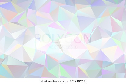 Polygon Abstract Backgrounds. prism Color Vector Banner.