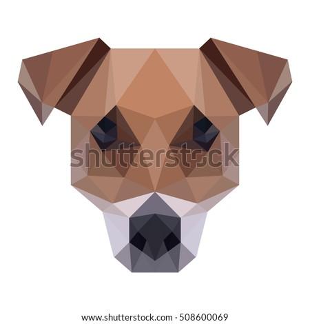 Polygon Animal Pet Dog Line Polygonal Icon Logo Template Oneletter Co