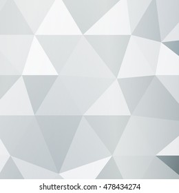Polygon background silver color. Vector illustration. Square banner. To implement your design ideas, business subjects, successful presentations.